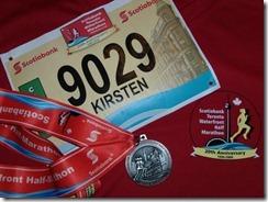 first halfmarathon medal
